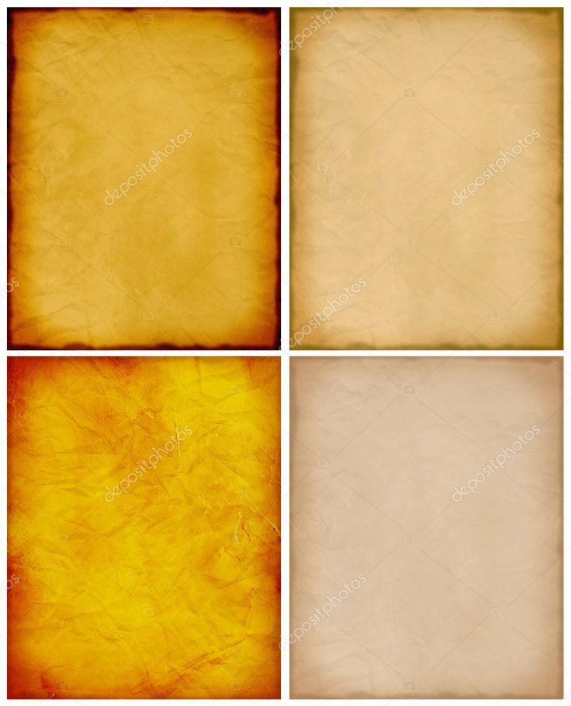 colección de alta resolución de cuatro plantillas de papel vintage ...