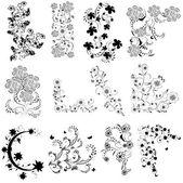 černé a bílé květy, úhel nastavení