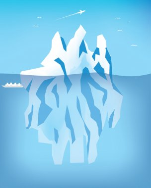 Arctic landscape stock vector