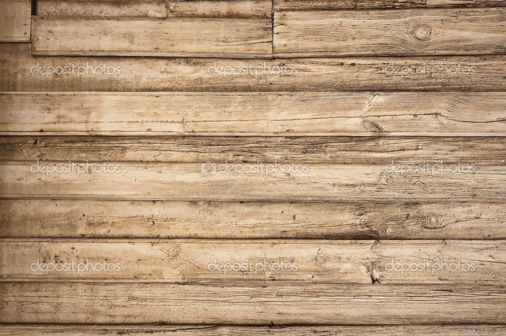 Old wooden background with horizontal boards — Stock Photo © Utiwamoj #5823115