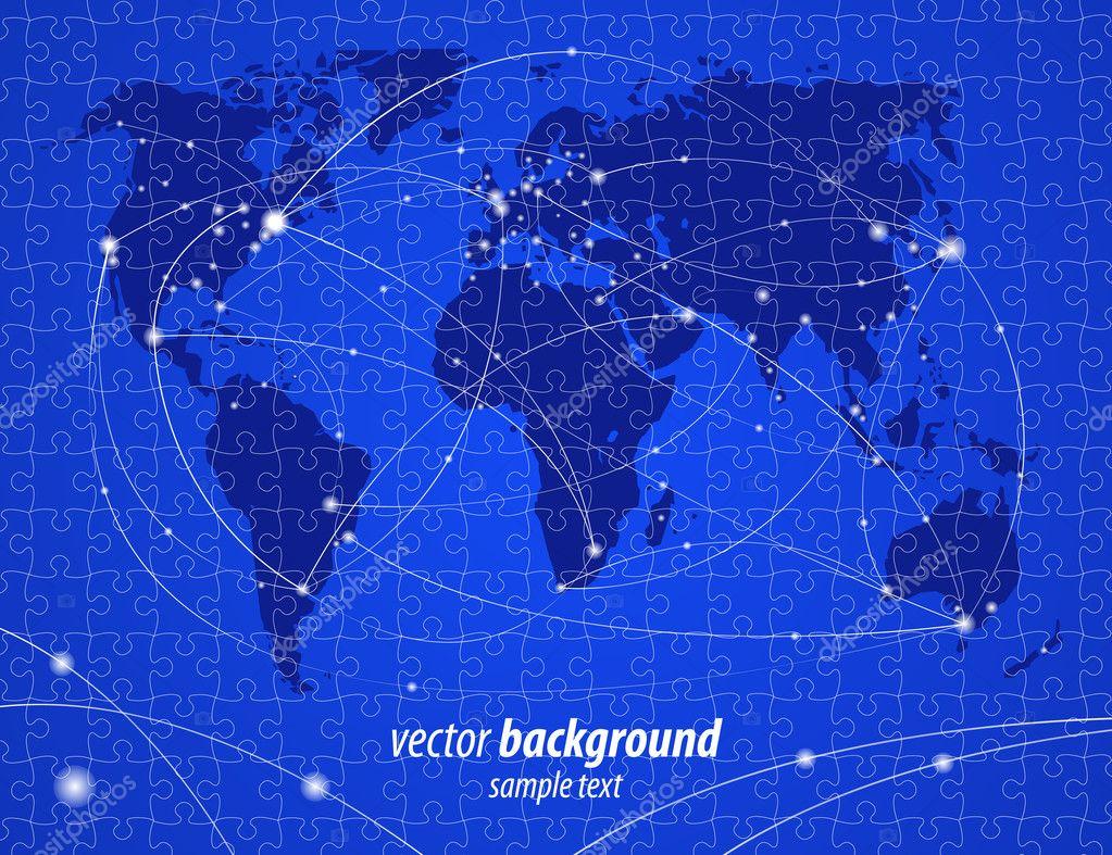 Vector illustration night travel world map puzzle jigsaw stock vector illustration night travel world map puzzle jigsaw stock vector gumiabroncs Images