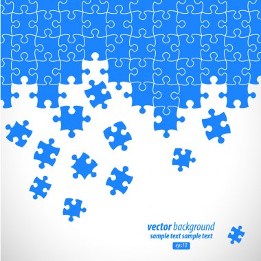 Puzzle pieces vector design