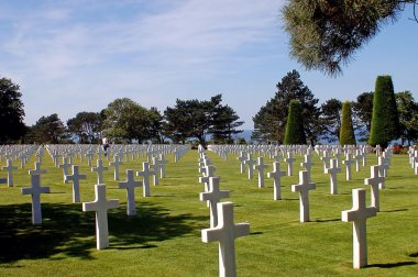 The American cemetery of Arromanches - France