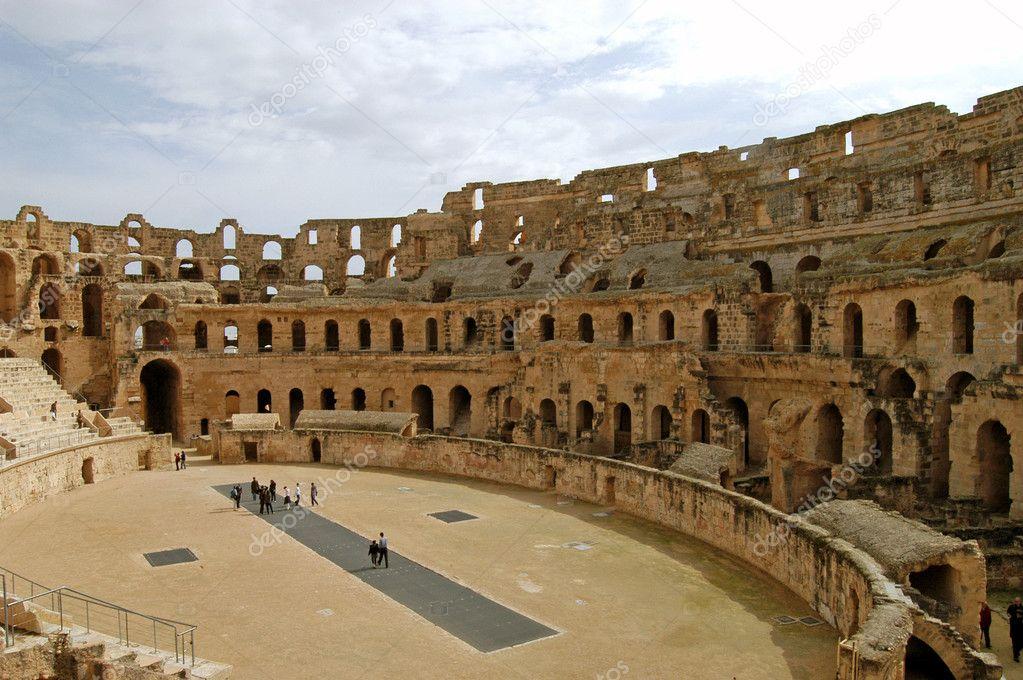 El Coliseo Romano De El Djem Túnez Foto De Stock Francofox