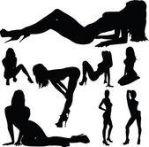 Fényképek Sexy girl body silhouettes