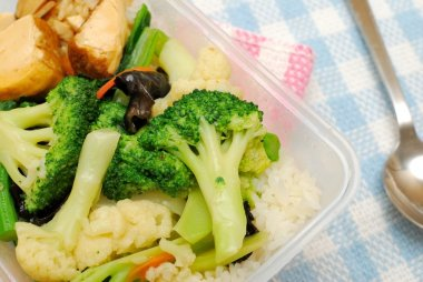 Healthy vegetables for packed lunch