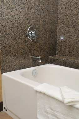 Closeup of bathtub