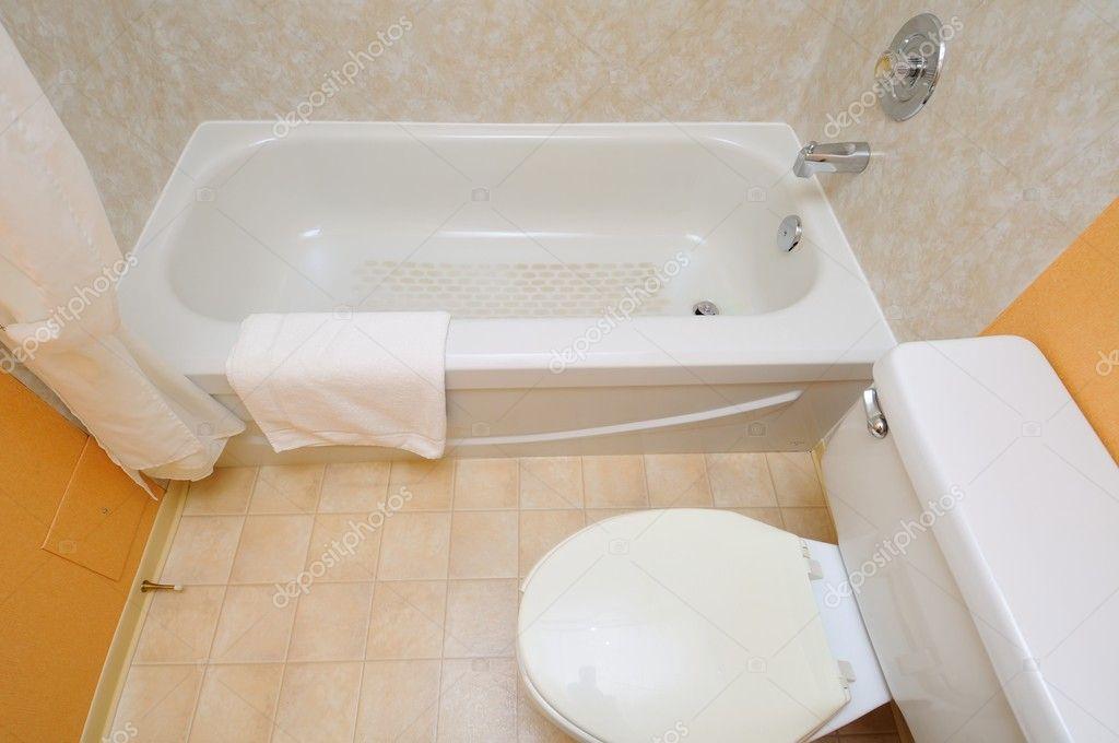 Top Down Of New Bathroom Stock Photo
