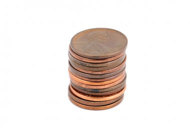 Pile of cent coin
