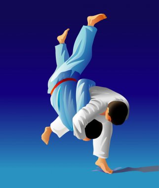Judo fighters