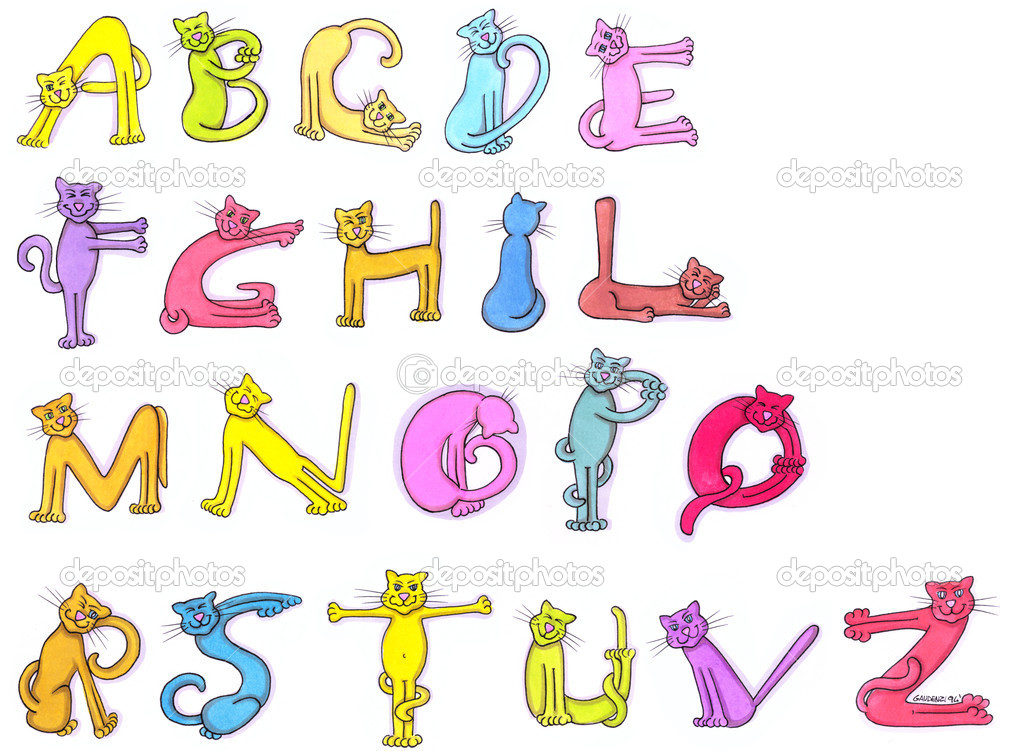 Letters of cat alphabet stock photo c silviagaudenzi for Alphabet photo letters