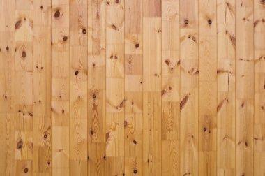 Rustic Pine Log Cabin Wall