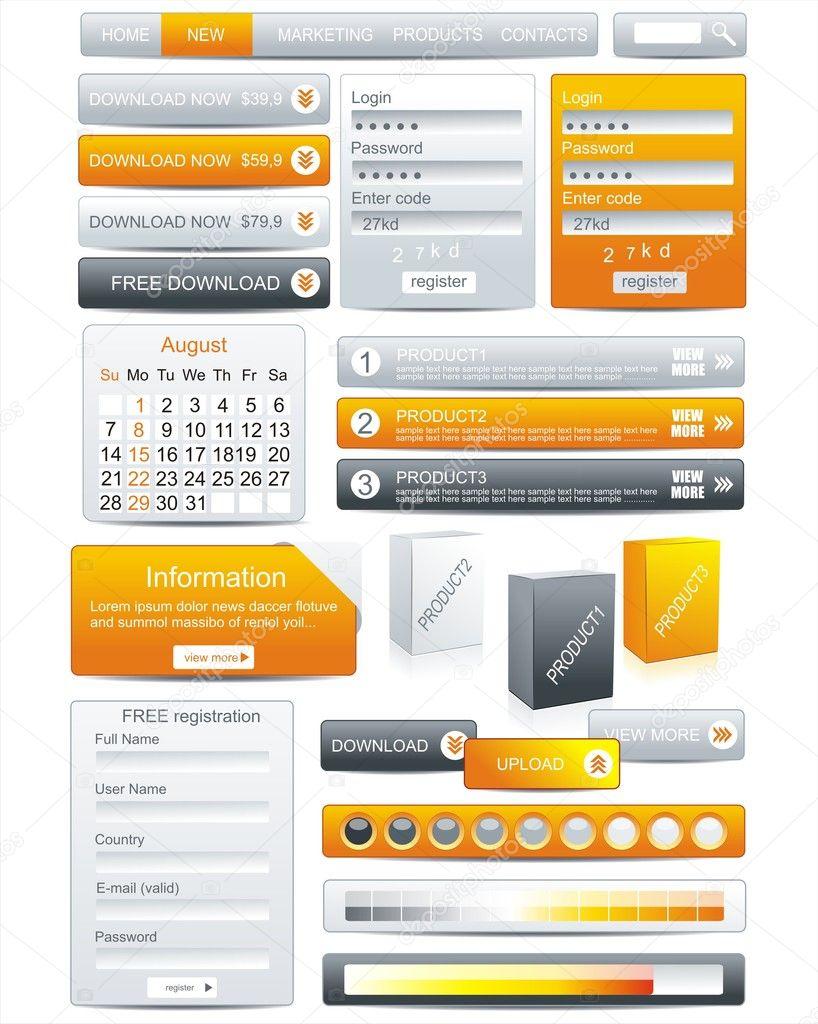 plantilla Web diseño elemento marco — Archivo Imágenes Vectoriales ...