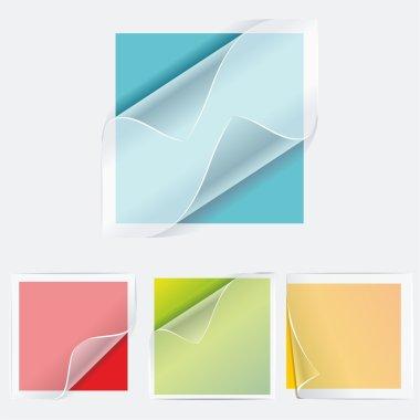 Multicolored stickers. Vector