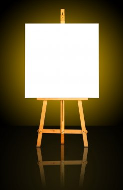 Canvas on Easel