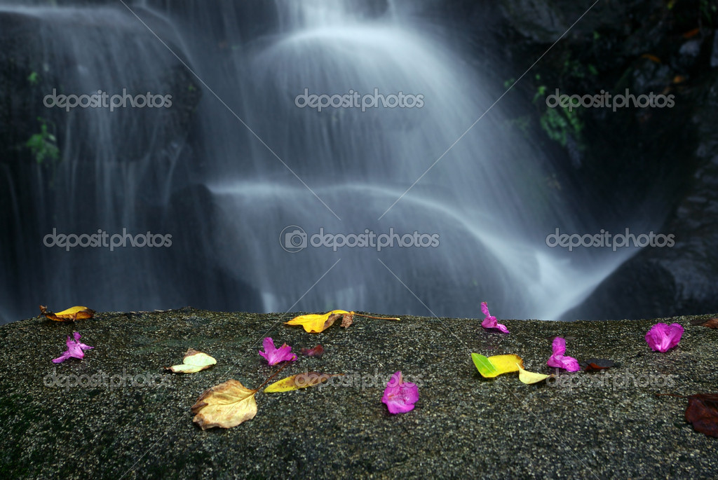 Idyllic Waterfall