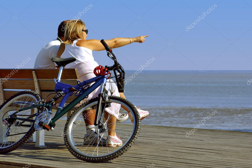 Couple and Bike