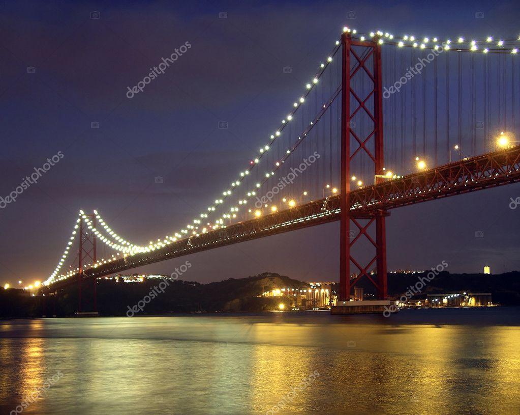 Ponte sul fiume tago foto stock ccaetano 5875157 for Piani di progettazione di ponti gratuiti