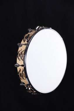Tambourine Isolated on Black