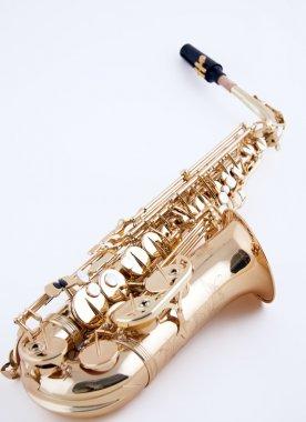 Alto Saxophone on White Background