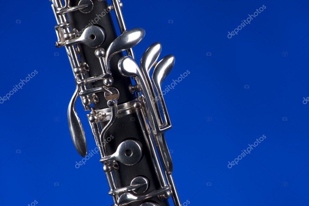 Oboe Isolated On Blue