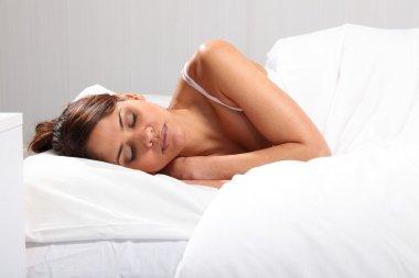 Woman having sweet dreams