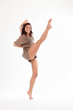 High kick from studio dancer