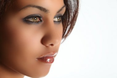 Green eyed beauty of mixed race