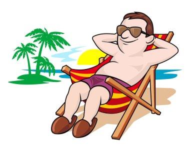 Beautiful leisure on beach