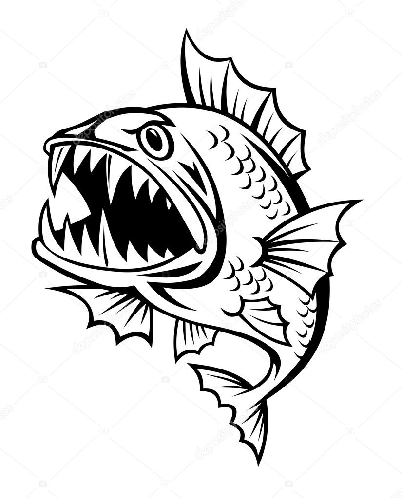 Angry Fish Stock Vector 169 Nihongo 5887588