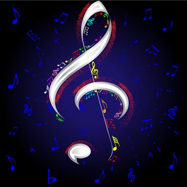 Music notes for design use, vector illustration stock vector