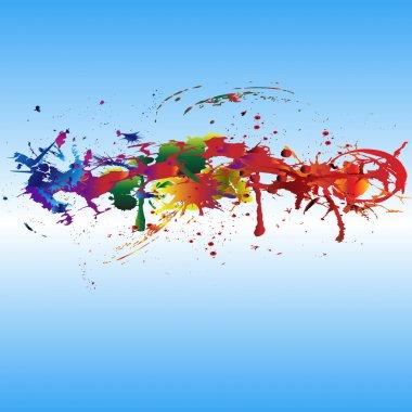Color paint splashes.
