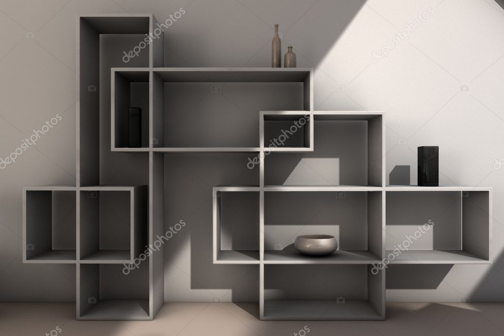 Modern Bookcase Stock Photo 169 Rpstudio 5860468