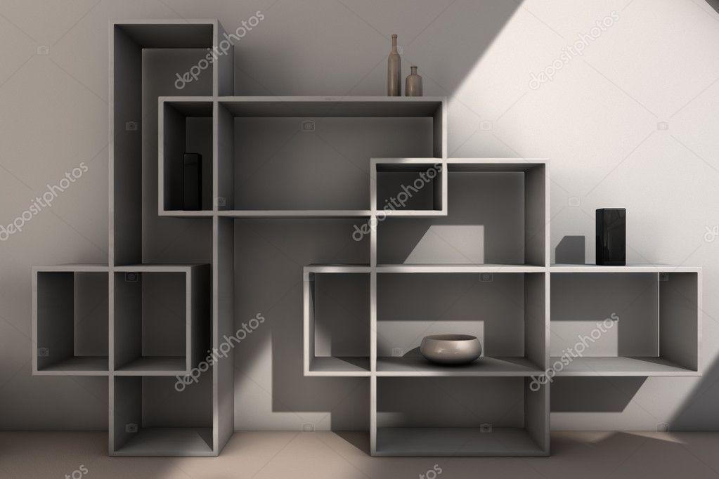 Moderne boekenkast u2014 stockfoto © rpstudio #5860468