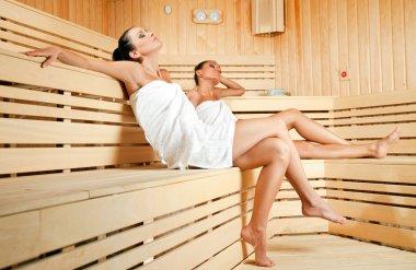 Females in sauna