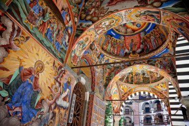 """Картина, постер, плакат, фотообои """"Святой Девы Рильский монастырь фреска"""", артикул 6374744"""