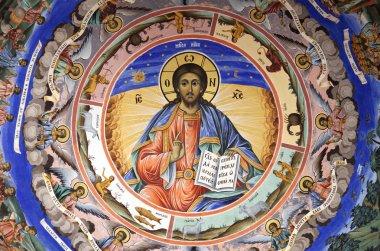 """Картина, постер, плакат, фотообои """"Иисус фреска Рильский монастырь"""", артикул 6374745"""