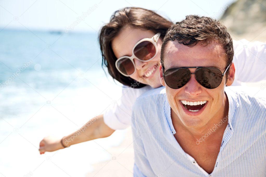 Happy couple summer