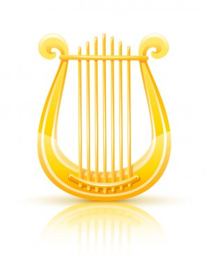 Greek golden lyre