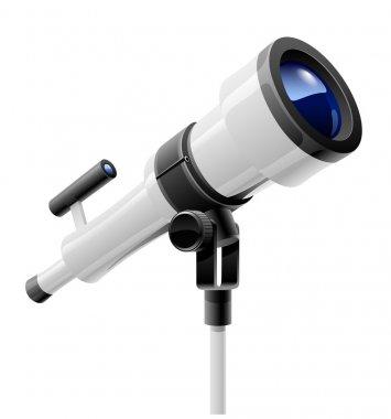 Telescope on support
