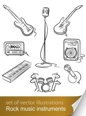 Set rock music instrument