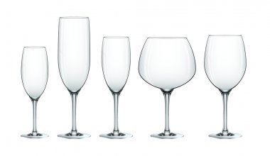 Wine glass set eps10