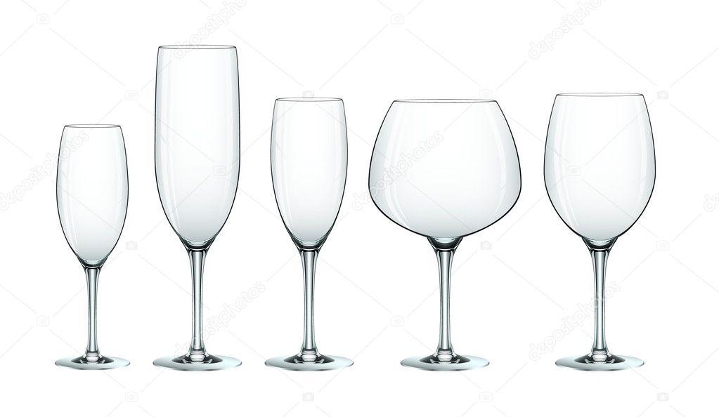 Wine glass set eps10