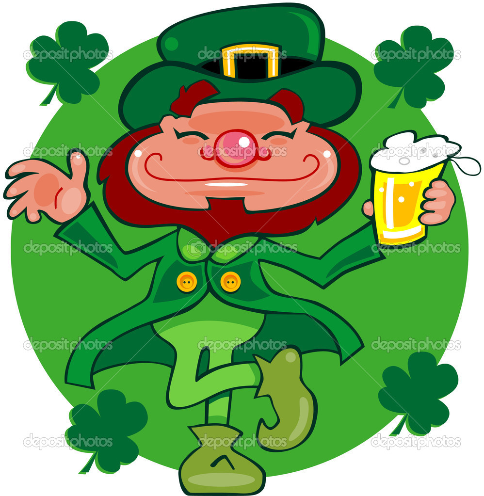 leprechaun dancing a jig u2014 stock photo mycartoonartist 5868707