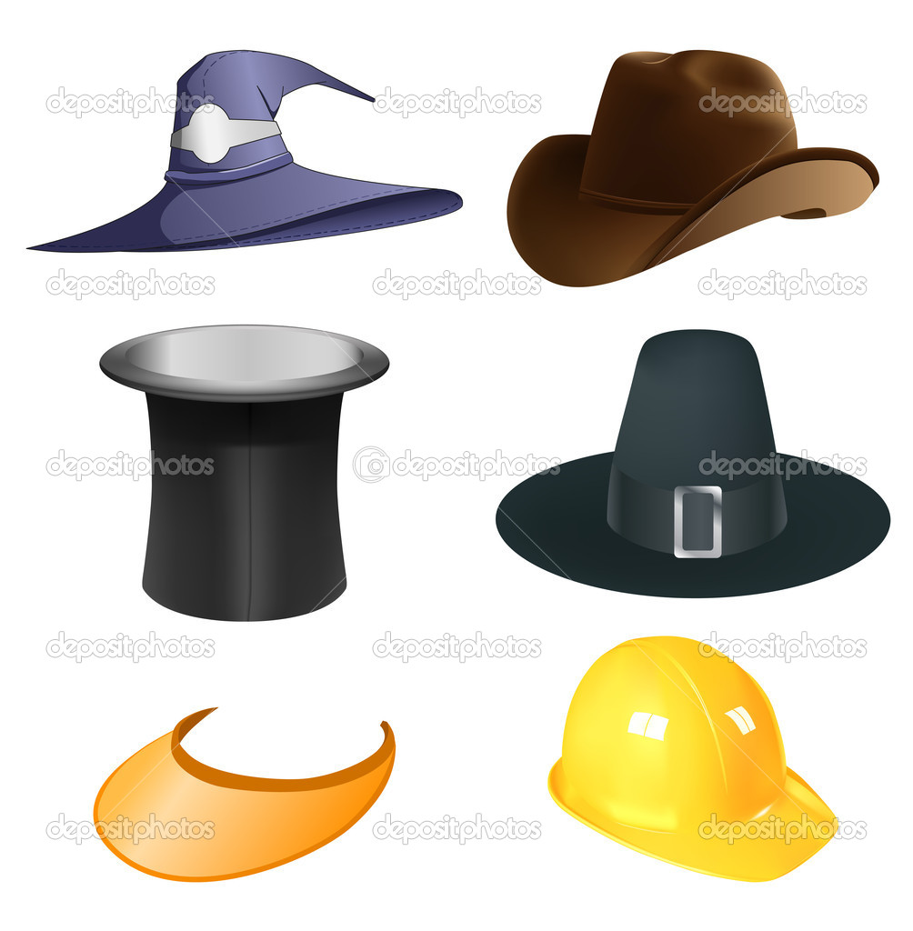 7aff6d185baf7 Hats set — Stock Vector © kovacevic  6670470