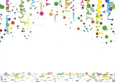 Serpentine confetti background - illustration, vector set