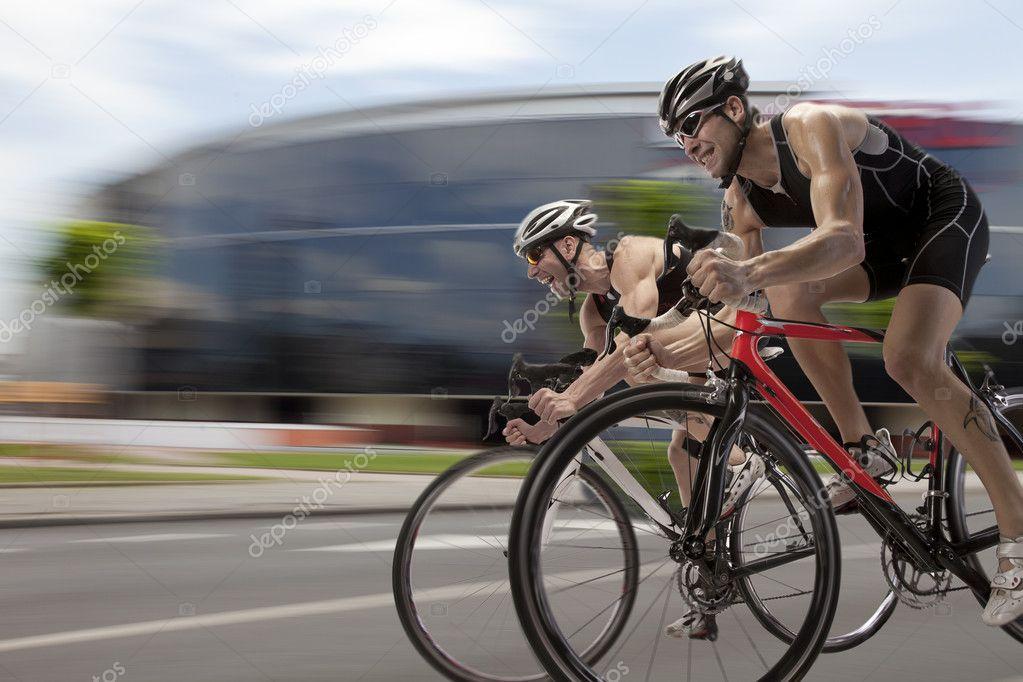 Finish a mountain bike race