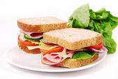 zdravé šunkový sendvič