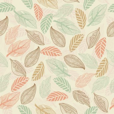Seamless leaf pattern in vector