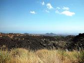 Fotografia vulcano Etna e catania